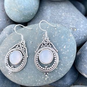 SUNDANCE sterling silver moonstone earrings Drops